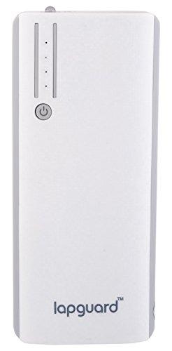 Lapguard Sailing-1520 Power Bank 13000 mAh Make In India portable Charger powerbank – White-Gry