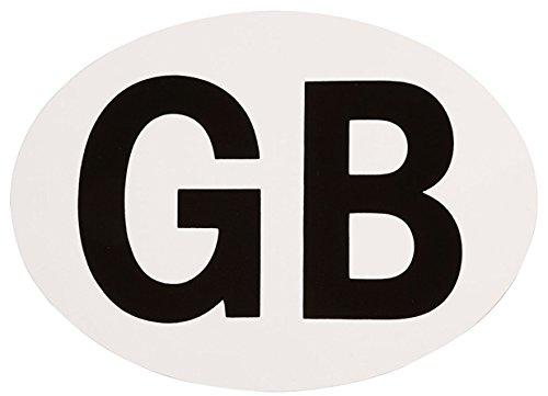 Self Adhesive Oval GB Sticker Fastcar