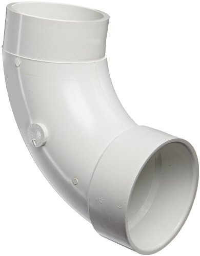 (Spears P309 Series PVC DWV Pipe Fitting, 1/4 Bend, Long Sweep Elbow, 4