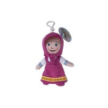 10cm Masha y el Oso El clip de peluche - MASHA - clip del bolso /