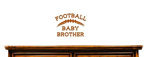 10 Inches X 20 Inches Color Brown 10 x 20 Design with Vinyl US V JER 3922 1 Top Selling Decals Football Baby Brother Wall Art Size