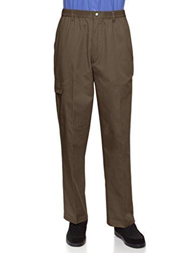 - AKA Wrinkle Free Men's Full Elastic Waist Twill Casual Pant Brown 4X
