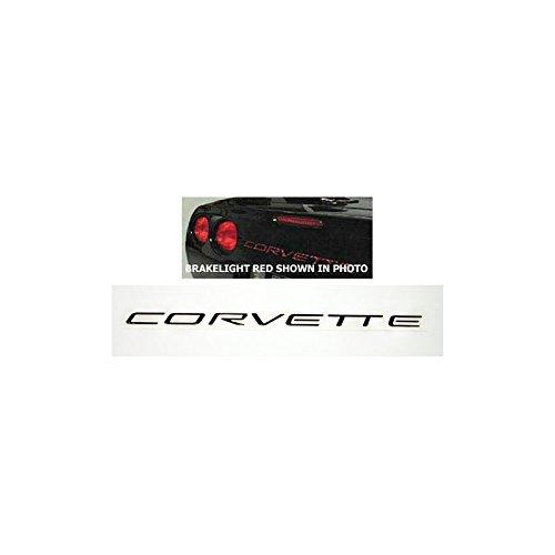 (Eckler's Premier Quality Products 25126445 Corvette Rear Bumper Lettering Kit Brushed Aluminum)