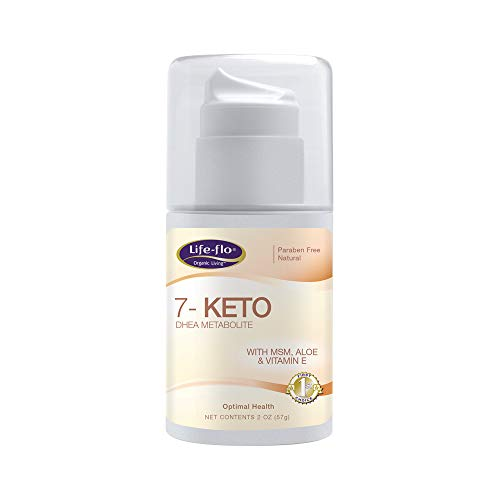 Life-Flo 7-Keto DHEA Metabolite Cream 15mg | MSM, Aloe & Vitamin E | Measured Pump | Fragrance-Free | 2oz