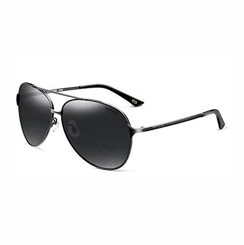 Verde Aviador Al PARZIN De Negro polarizado UV Conducción Protección Ligero Súper de con Sol Marco 400 Hombre Metal MG Gafas de qPwrPHxI