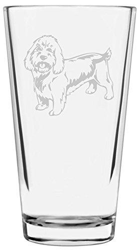 Petit Basset Griffon Vendeen Dog Themed Etched All Purpose 16oz Libbey Pint Glass