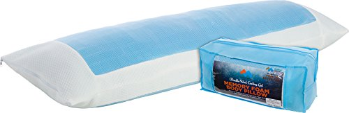 Mindful Design Double Sided Cooling Memory Foam Body Pillow - Extra Firm Full Shredded Memory Foam Body Pillow w/Cooling Gel, Support and Comfort for Stomach and Side Sleepers