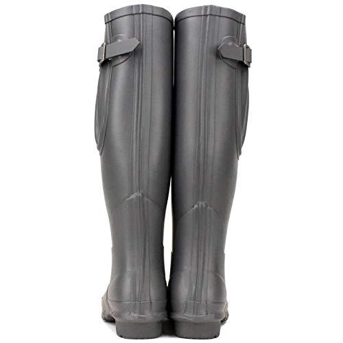Plum Rockfish upto Women's Boots Award Winning Adjustable Rain Boots Wellies Calf Fit Tall Grey Matt Grey Earl Wide 45cm's wrqXrPF