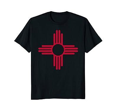 Red & Yellow Zia Sun Shirt Retro New Mexico Flag Tee Shirt