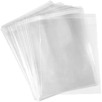 O 500 Pcs 8x10 Clear Flat Poly Cello Cellophane Bags