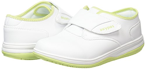 Oxypas Medilogic Emily Slip-resistant, Antistatic Nursing Shoe, White (Lgn), 5.5 UK (39 EU)