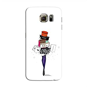 Cover it up Shopping Girl Samsung Galaxy Note 5 Edge Hard Case - White