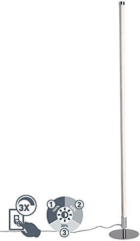 QAZQA Moderno Lámpara de pie moderna LED cromo - Line-up Plástico ...
