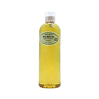 Rice Bran OIL Organic 100% Pure Cold Pressed 12 Oz from Dr Adorable Inc