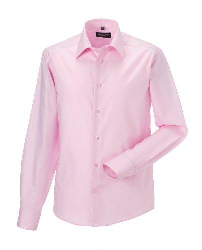 Russell Sammlung Langarm zugeschnitten ultimative bügelfreie Hemd Klassisches rosa 17