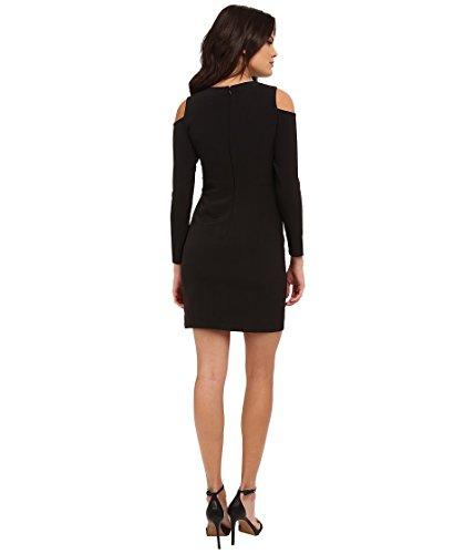 Shoulder With Sleeve Cocktail Detail and Women's Mattox Black Aidan Seam Peekaboo Aidan Long Dress 1q4f77w
