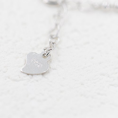 Rhodium Plated Sterling Silver Love Heart Pendant Drop Chain Y Shaped Necklace 15.5-17 Inch by Lemon Grass (Image #5)