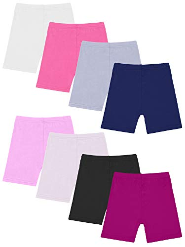 Resinta 8 Pack Black Dance Shorts Girls Bike Short Breathable and Safety 8 Color (Mixed Colors 1, 4/5T) ()