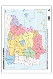 Mapa España Física, 50 unidades: Amazon.es: Vv.Aa.: Libros