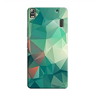 Cover It Up - Green Pixel White Triangles Lenovo A7000 / K3 Note Hard Case