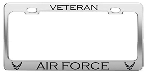 VETERAN AIR FORCE Military US Army Career Auto Tag License Plate Frame