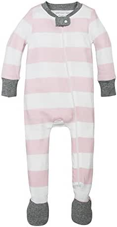 Burt's Bees Baby - Sleeper with Easy to Change Zip Up Front, 100% Organic Cotton