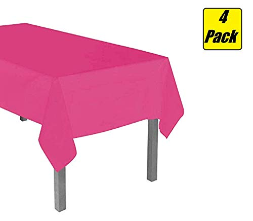 (Disposable Plastic Table Covers (4 Pack, 54