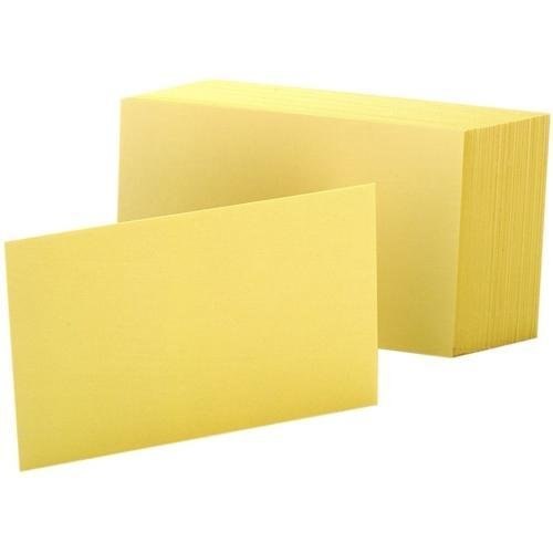 Oxford Colored Index Cards - 7420CAN Oxford Colored Blank Index Cards - 100 x Divider(s) - Blank - 4