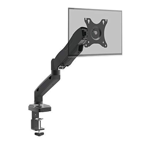 "Full Motion Height Adjustable Articulating Gas Spring Single Arm Swivel Monitor Desk Mount Stand, Fit Most 10""-27"" Computer Screens up to 14.3 LBS, VESA 75x75 to 100x100mm Charmount"