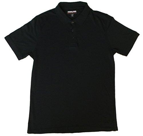Mens Supima Cotton Polo (Medium, Black) (Supima Ribbed)