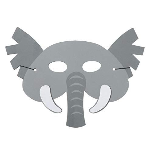 Darice Bulk Buy DIY Foamies Mask Elephant Gray (6-Pack) 106-4050