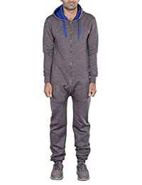 Mens Stylish All in One Jumpsuit Onesie One Piece Pajamas