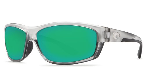 Costa Del Mar Saltbreak 580G Polarized Sunglasses in Silver & Green Mirror - Mar Sunglasses Costa Del Polarized Saltbreak