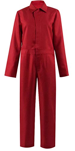 Dahee Adelaide Red Jumpsuit for Women Halloween Costume Cosplay (XS, Red) ()
