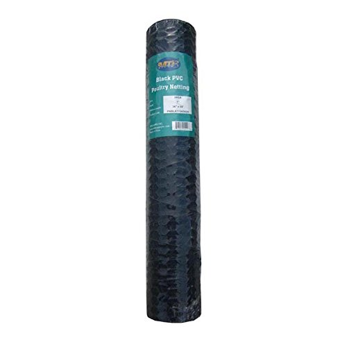 MTB Black PVC Hexagonal Poultry Netting, Chicken Wire 36