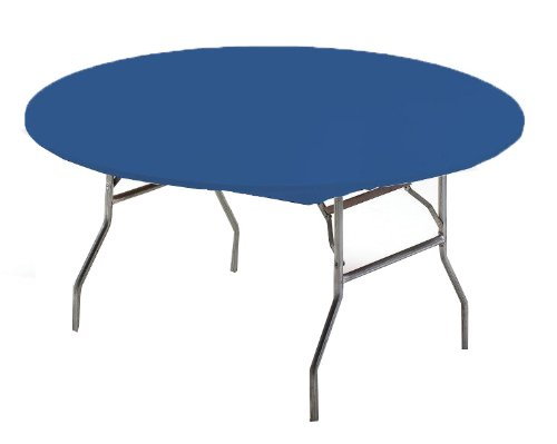Creative Converting Round Stay Put Plastic Table Cover, 60-Inch, Royal Blue - 60