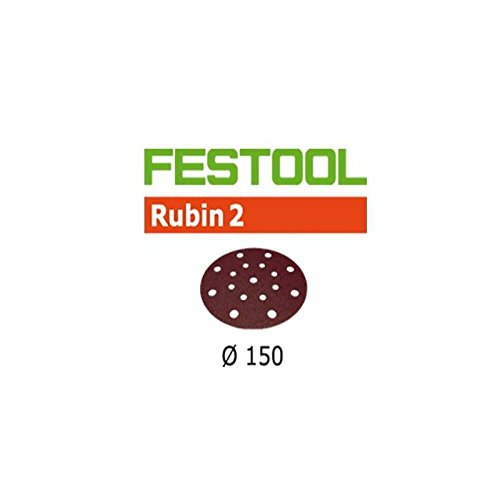 10x Festool Schleifscheiben STF D150//16 P60 RU2//10 Rubin 2