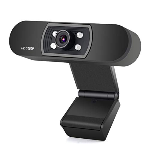 Asdf H800 HD 1080P Computer Camera Video Conference USB Android TV Built-in Microphone by Asdf
