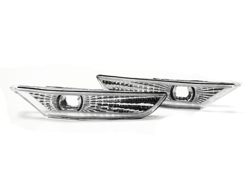 03-06 Infiniti G35 4DR Sedan Front Bumper Side Marker Lights - Clear (2003 2004 2005 2006) ()