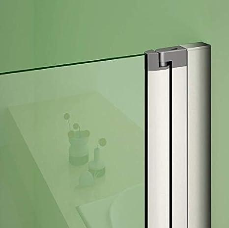 Aica box cabina 120x80cm doccia angolare doppie porte apertura completamente pieghevole cristallo temperato trasparente anticalcare alta 195cm