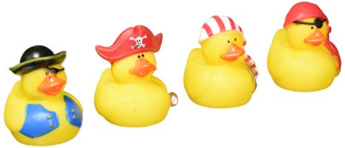 Fun Express 12 Mini Pirate Rubber Ducks Duckie Ducky Party Favors Novelty (1 Dozen) ()
