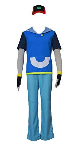 CHIUS Cosplay Costume Ash Katchum Satoshi Outfit Ver 4 ()