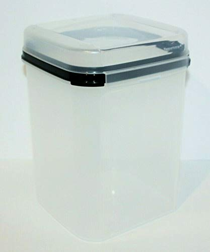 (Tupperware Signature Line #4 Square 23 Cup Modular Mates with Hinged Seal Black)