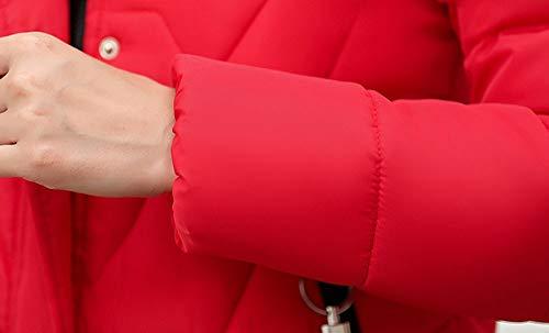 Imbottito Piumino Cappotti Giubbotto Antivento Corta Mambain Lungo Cappotto Parka Taglie Pelliccia Rosso Con Cappuccio Eleganti Spessa Giacca Manica Forti Caldo Donna Invernali Giacche uPXZki
