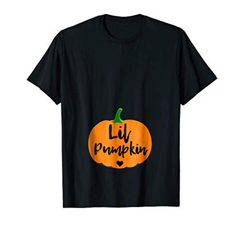 Halloween Pregnancy Shirts For Women Lil Pumpkin -
