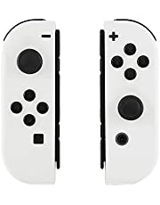eXtremeRate Soft Touch Grip White Joycon Handheld Controller Housingwith Full Set Buttons, DIY Replacement Shell Case for Nintendo Switch Joy-Con – Console Shell NOT Included