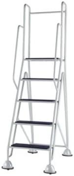 escabeaux de plataforma, móvil – 4 Peldaños, plataforma, contiene gris clair – plataforma de trabajo escalera escabeaux taburete