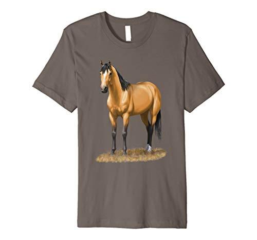 Beautiful Buckskin Dun Quarter Horse Stallion T-shirt ()