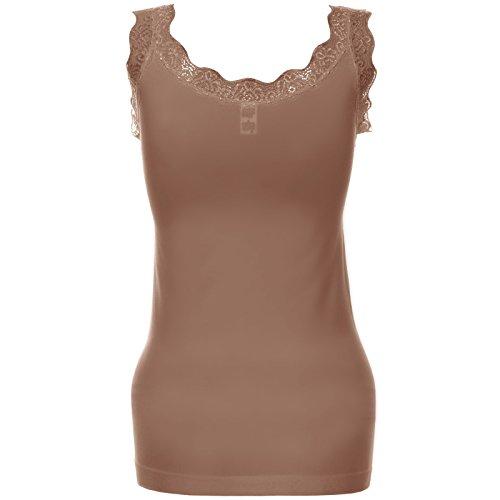 BEZLIT - Body - Sin tirantes - Básico - Sin mangas - para mujer marrón