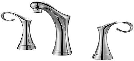"Kraus FUS-13103CH Cirrus Widespread 2-Handle Bathroom Faucet, 8"", Chrome"